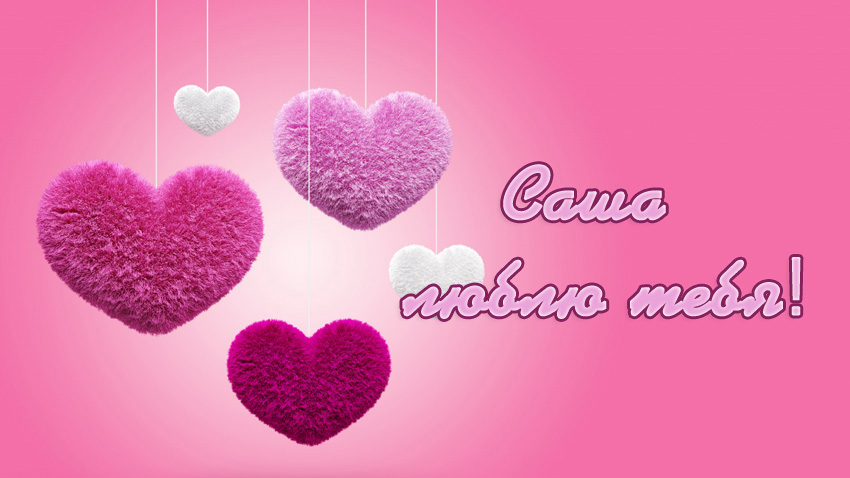 Саша, люблю тебя!